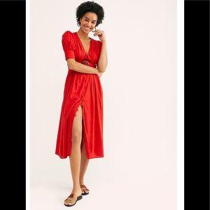 ‼️NWT Free People Heart is this Midi Dress XS ‼️